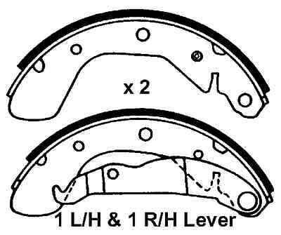 rear delphi brake shoes for vauxhall astra corsa tigra vectra Suzuki Swift vauxhall astra corsa nova tigra new rear brake shoes