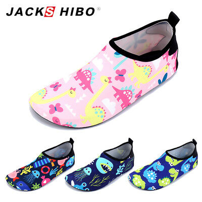 Baby Boy Girl Cute Water Shoes Toddler Infant Barefoot Aqua Socks Skin Beach US