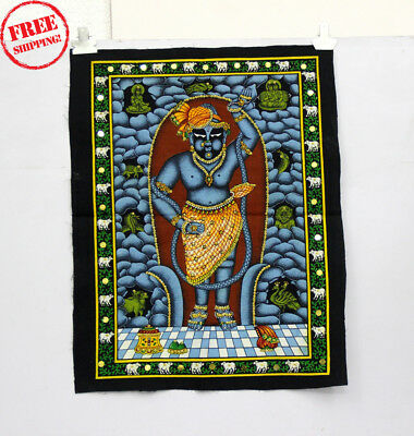 Unique Handmade Color Painting Of Lord On Cloth 10414