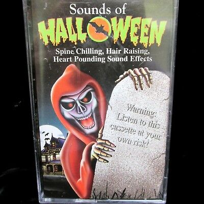 sounds of halloween cassette tape in case spine chilling sound effects pre owned