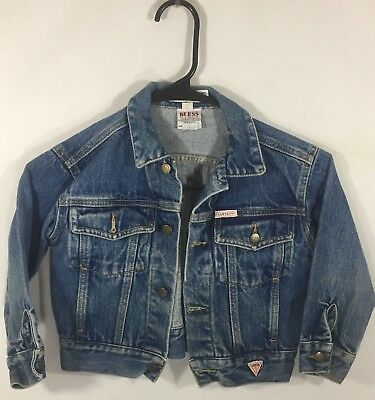 Size Youth 5 Vintage 90's Guess Jeans Georges Marciano Blue Jean Denim Jacket