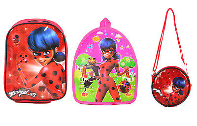 Miraculous Ladybug School Backpack Bag Swimming Bag Coin Purse Wallet
