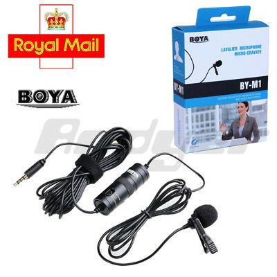 UK BOYA BY-M1 3.5 mm Lavalier Microphone for Smartphone and Cameras Mic Port