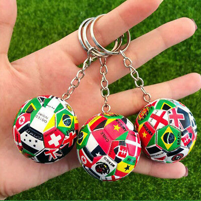 1x World Cup Football National Flag Car Key Chain Key ring Soccer Lover Gift