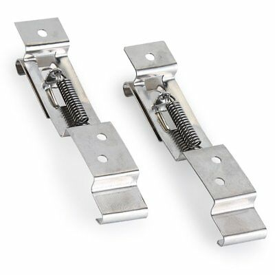 Trailer Number Plate Clips Holder Spring Loaded Stainless Steel One Pair for Car