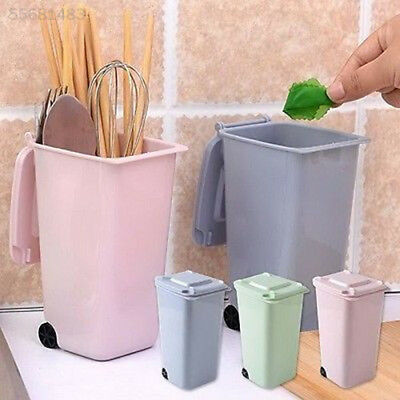 370D Sturdy Dustbin 10*8*15.5cm Garbage Pencil Cup Markers Wheelie Trash Can