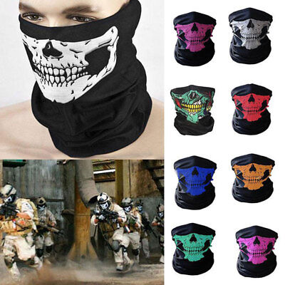 Novel Skull Bandana Outdoor Bike Motorcycle Helmet Neck Face Mask Ski Headband