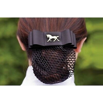 Aime Imports Black Ribbon Show Bow Silver-Horse Head. Free Delivery