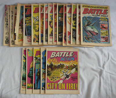 Collection of x21 1976 Battle Picture Weekly Boys War Comic's