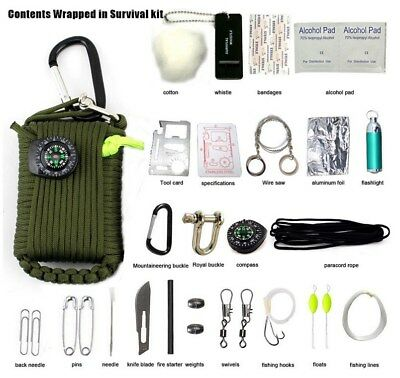 29PCS Survival Kit First Aid Tools Camping Rescue Gear Emergency Kit Outdoor New