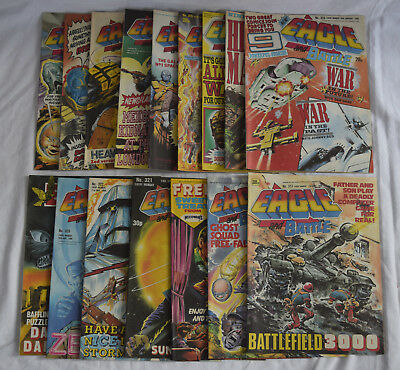 Collection of x16 1988 Eagle and Battle Boys War Comic's