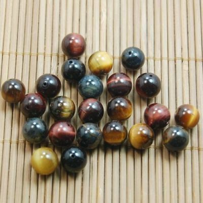 4/6/8/10mm Lots Natural Gemstone Stone Tiger Eye Round Loose Spacer Beads Crafts