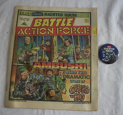 BATTLE ACTION FORCE 11th May 1985 - With Free Gift Heinz Haunted Mansion Badge