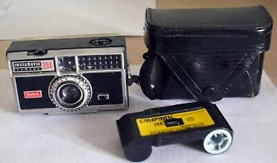 Kodak Instamatic 304 – vintage camera with part used 126 film cartridge included