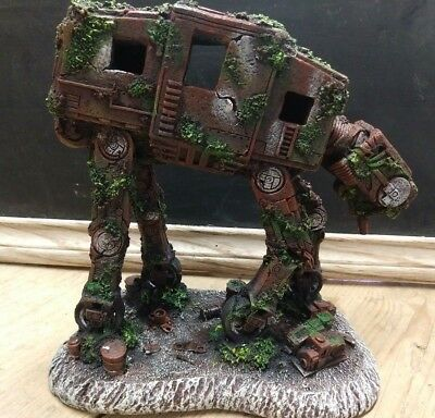 "Space Dog ""Star Wars Style AT AT"" Large Aquarium Fish Tank Ornament"