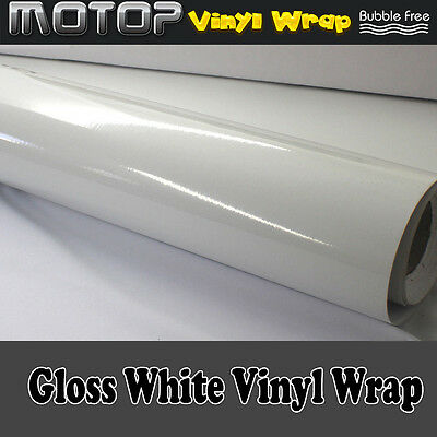 Auto Glossy Gloss White Vinyl Wrap Film Car Sticker Decal with Air Bubble Free