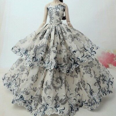 Fashion Princess Party Dress Evening Clothes Gown For Barbie Doll Ball Gown New