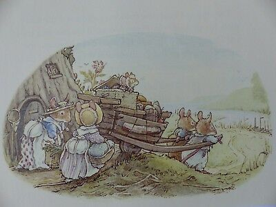 Retro Brambly Hedge Book Plates/ Illustration Print - Sea Story Picture