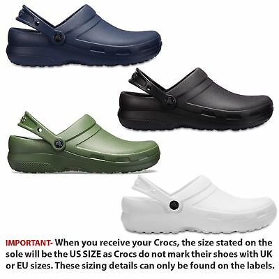 Crocs Specialist II Medical Work Professionals Roomy Fit Clogs Shoes Sandals