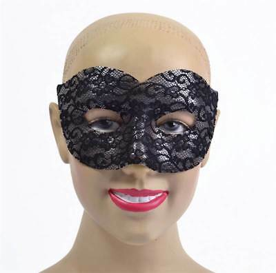 GTL Halloween Black Lace Classic Face Mask Masquerade Eye Mask Fancy Dress EM952