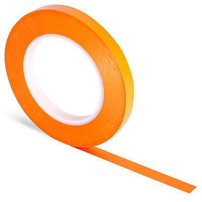 12 x Orange Plastic Fine Line Masking Tape 15mm x 55m. Silicone Free