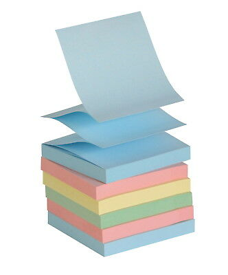 School Smart Pop-Up Self-Stick Adhesive Note, 3 X 3 in, Assorted Pastel Colors,
