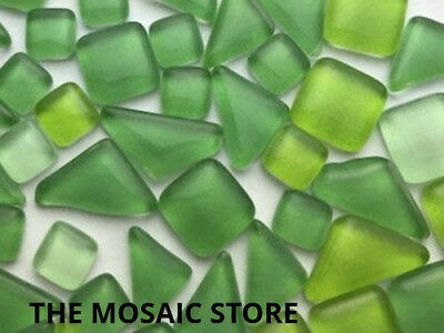 Mixed Light Green Crystal Glass Mosaic Tiles - Art & Craft Supplies