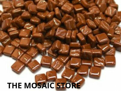 Coffee Brown 8mm Glass Mosaic Tiles - Micro Small Mosaic Art & Craft Supplies