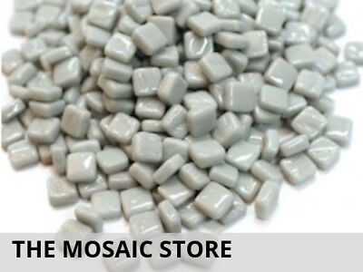 Pale Grey 8mm Glass Mosaic Tiles - Micro Small Mosaic Tiles