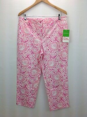 Lilly Pulitzer Women's Size 12 Pink Floral Stretch Lilly Capris
