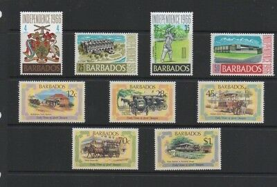 Barbados. Sg356-9, 665-9. Mint Never Hinged.
