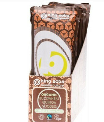 King Soba Buckwheat Noodles with Quinoa - BULK 12 x 250g | Organic | Free Post