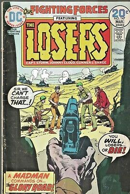 Our Fighting Forces #147  The Losers  Neal Adams Cover  Dc  1974