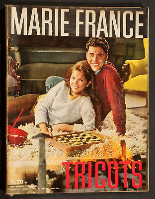 'marie-France' French Magazine Knitwear Issue Sacha Distel Cover November 1961