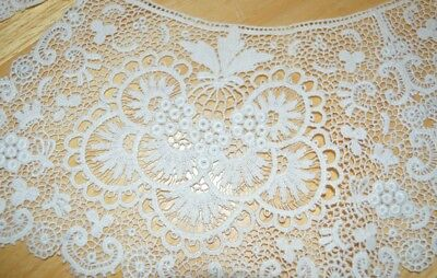 """Large Cream Vintage Fine Lace Collar Approx 27"""""""