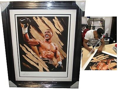 Anthony Joshua SIGNED AUTOGRAPH Limited Edition Photo Proof AFTAL UACC RD