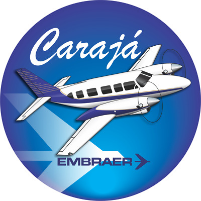 Embraer Carajá aircraft round sticker