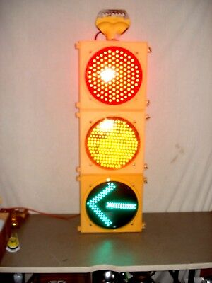 """Real Traffic Signal Light Red, Yellow, Green 12"""" Wired LED W/ Hanger Man Cave"""