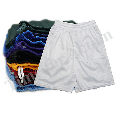 Men's Mesh Basketball Gym Fitness Exercise short Pants with Pockets