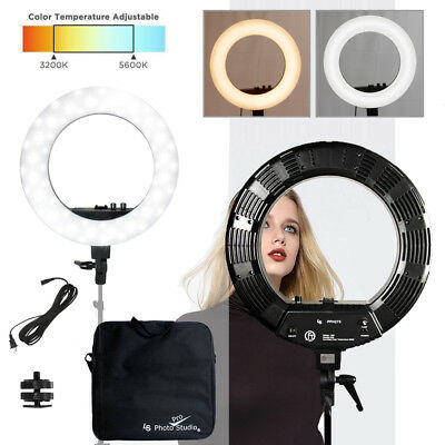 "18"" LED 50W Dimmable Photography Ring Light Light Continuous Photo Lighting"