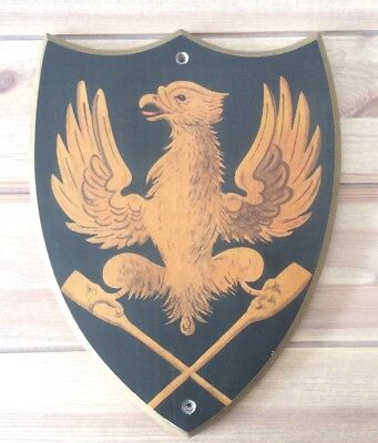 Heraldic Shield/Plaque With Detailed Eagle Astride Paddles