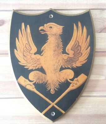 Heraldic Shield With Eagle Astride Paddles, Possibly  Boat Club