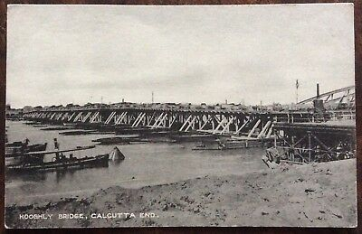 Antique Pc View Of The Howrah Bridge No.1 Across The Hooghly River Calcutta 1905