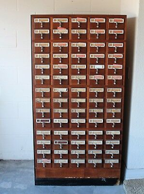 Vintage 72 Drawer Library Card Catalog