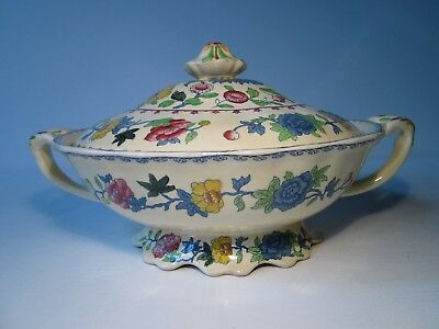Vintage Mason's Ironstone China Regency Oval Tureen with Cover