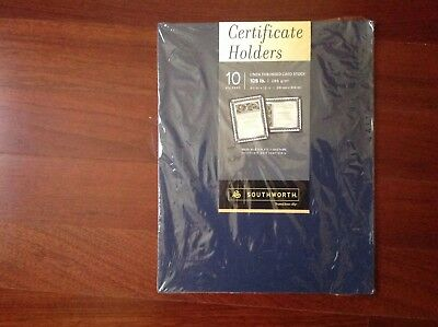 Southworth Certificate Holder 9.5 x 12-Inch 105 Pound Navy 10 Count (PF8) NEW!!!