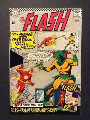 The Flash #161 (May 1966, DC) vs. MIRROR MASTER * VINTAGE SILVER AGE COMIC