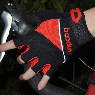 Motorcycle Gloves Silicone Non-slip Shock-absorption Half Finger Bike ZS