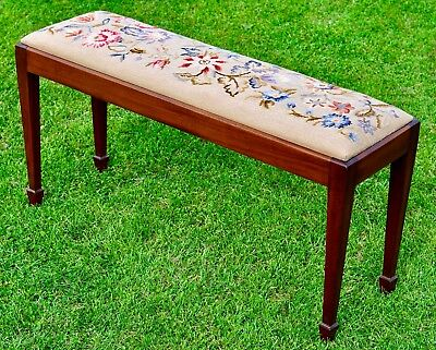 Humor Antique Edwardian Mahogany Piano/dressing Table Stool Antiques