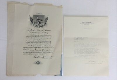 FRANKLIN DELANO ROOSEVELT Typed SIGNED Letter 3/27/1918 WWI Ass't Sec Navy